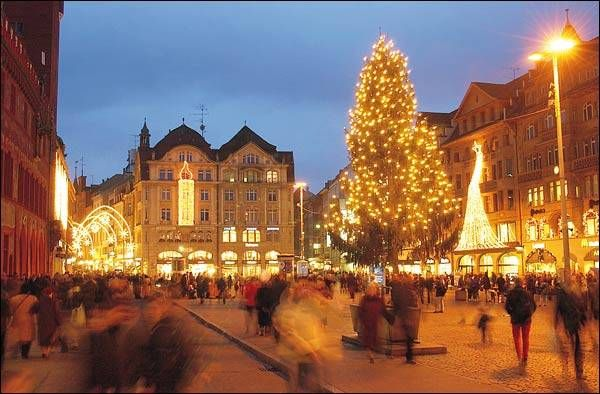 Basel, Switzerland Christmas Market! Best potato pancakes and applesauce ever!!!