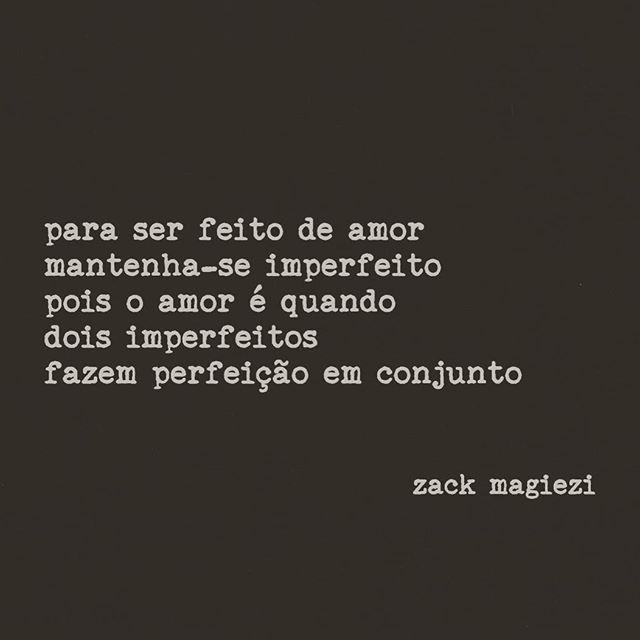 Bom dia! O dia hoje começa bem com a poesia de Zack Magiezi | Joias Renata Rose