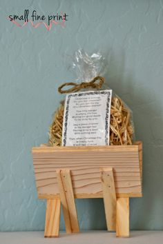 Straw For The Manger Christmas Story & Activity