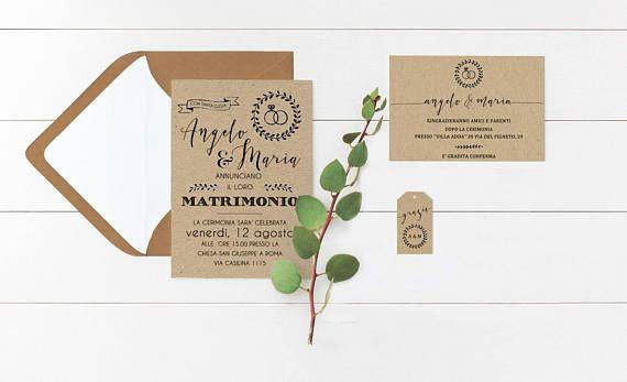 Partecipazioni Matrimonio Bologna.Partecipazioni Rustiche Partecipazioni Per Matrimonio Matrimoni