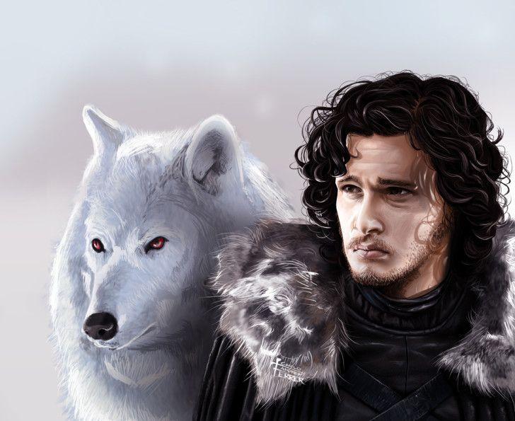Jon Snow And Snow Bear HD Wallpaper