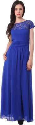 Eyelet Women's Empire Waist Dress - Buy Blue Eyelet Women's Empire Waist Dress Online at Best Prices in India | Flipkart.com