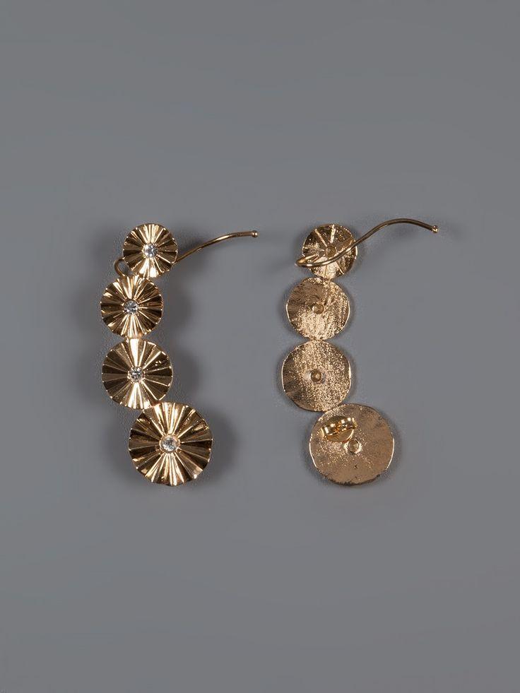 "Bianca Bertoni Brinco ""ear Cuff"" Dourado. - Bianca Bertoni Design - Farfetch.com.br"