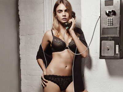 Model Cara Delevingne has exhibited her curves for luxury fashion make DKNY's Intimates and Sleepover campaign. The first film from the ad, also t