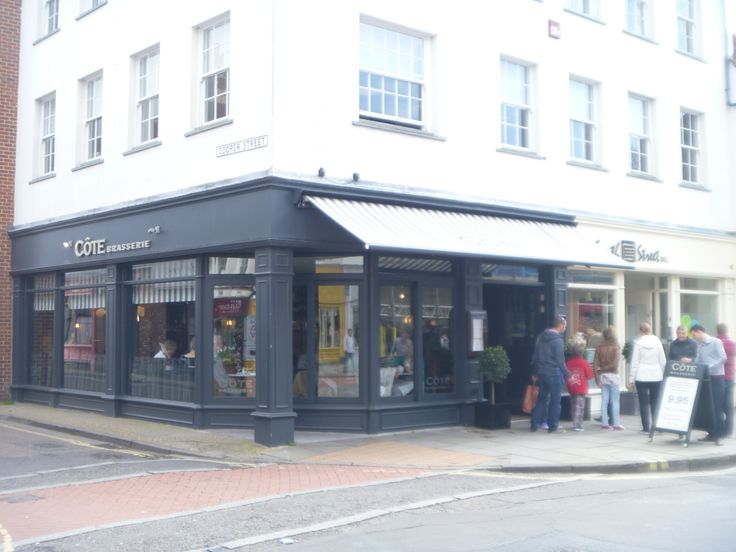 Cote Brasserie restaurant, South Street, Chichester. Stylish, well cooked and original food. www.chichesterselfcatering.co.uk