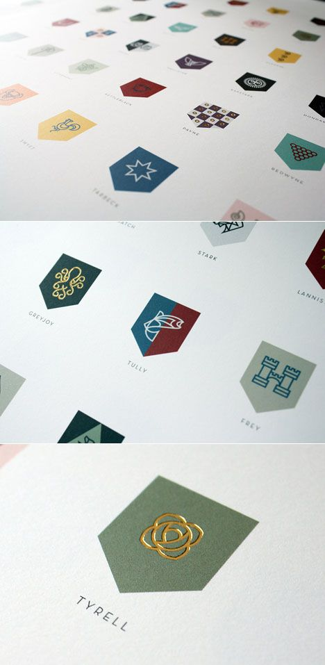 Game Of Thrones logos  Darren Crescenzi, a Portland-based Brand Designer for Nike and a Game of Thrones fan