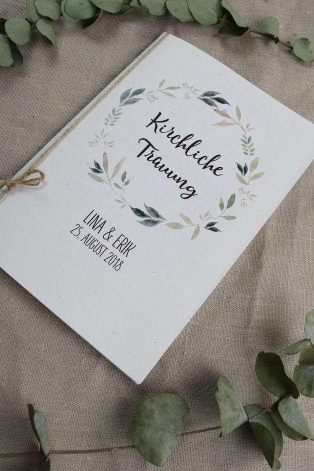 Kirchenheft Natur Liebe Hochzeitskarten Hochzeit Mit Liebe