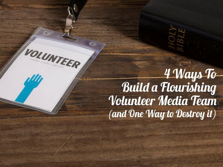 4 Ways To Build a Flourishing Volunteer Media Team (and One Way to Destroy it) http://churchtechtoday.com/2016/08/01/4-ways-to-build-a-flourishing-volunteer-media-team/