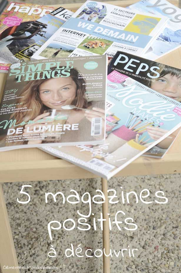 Fais le plein d'ondes positives : idées de magazines