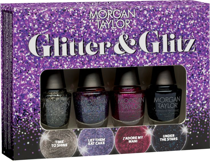 Morgan Taylor Online Only Glitter & Glitz 4 Pc Mini Set