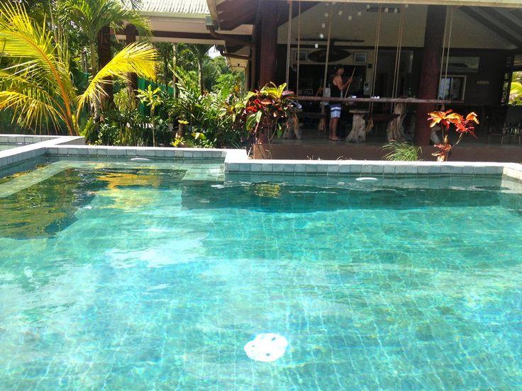 Bali green sukabumi stone at Salani Surf Resort Samoa