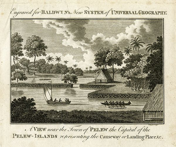 The Landing Place At Palau Drawing