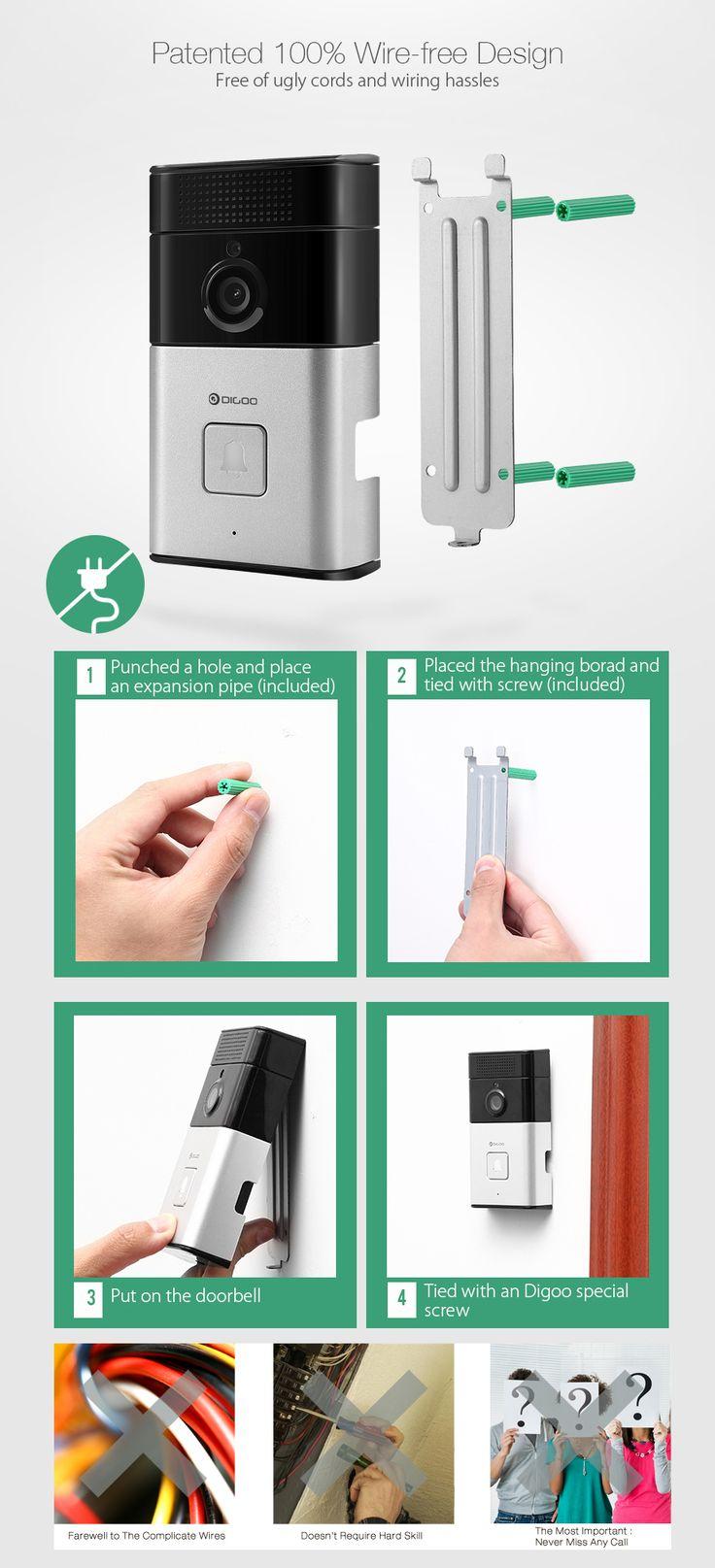 BluetoothのSBのXYZ digooカメラとWi-FiスマートハウスCHASD RINGERタッチフォン
