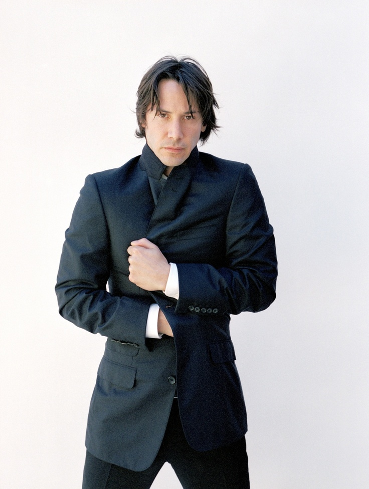 Keanu Reeves by Amanda De Cadenet for Arena, Dec 2003--I'm wondering if he is shirtless under that jacket--what do you think? :)  (chicfoo)