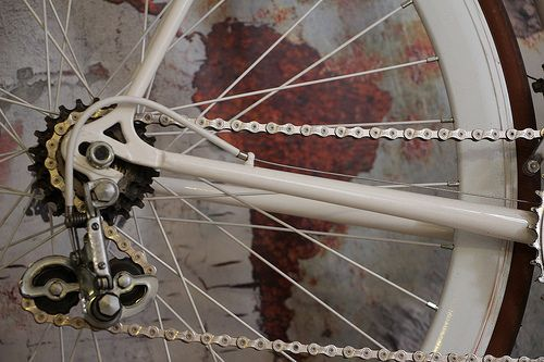 Grunge Map with bike - Detail 5 | Picture from our friends!