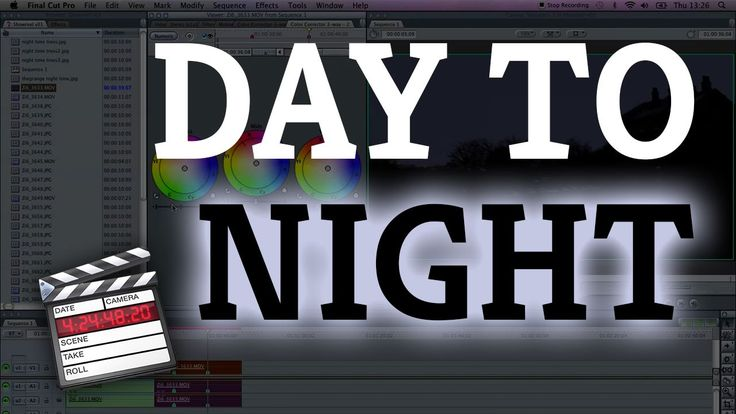 Final Cut Pro 7: Change Day to Night Using the Color Corrector 3 Way