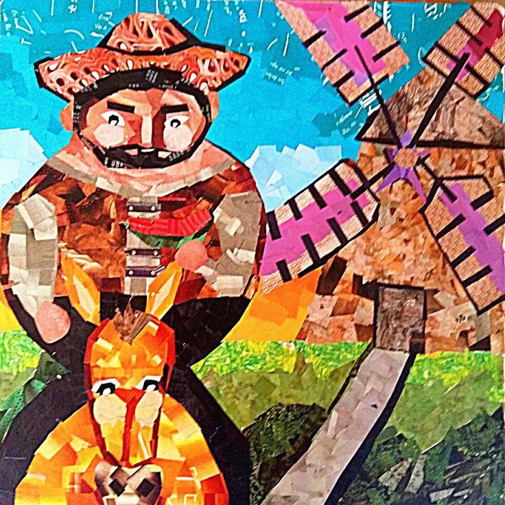 Sancho e Moinho, escudeiro e ameaça