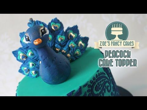 Peacock cake topper model using gum paste - YouTube
