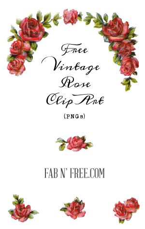 Free Vintage Roses - PNG files with No Backgrounds