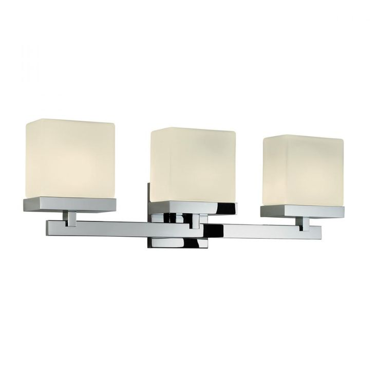 modern bathroom fountain valley reviews%0A Sonneman Lighting Modern Bathroom Light with White Glass in Polished Chrome  Finish