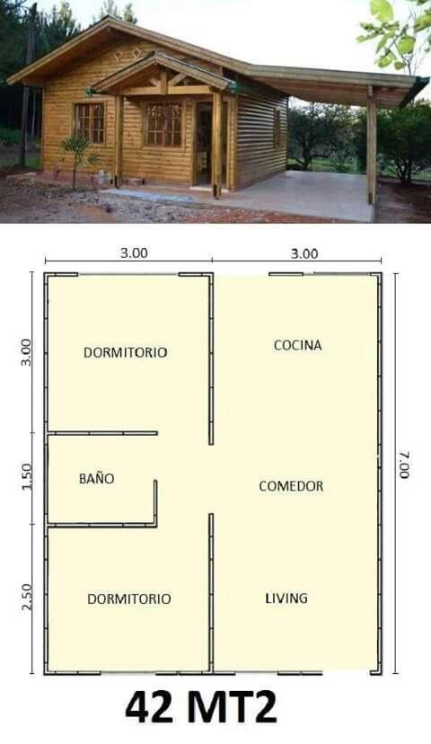 M s de 25 ideas incre bles sobre planos de casas peque as for Planos de cabanas campestres