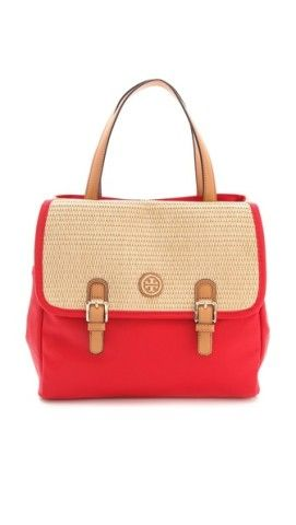Tory Burch Pierson Straw Mini Beach Tote | SHOPBOP