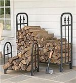 Large Decorative Heavy-Duty Steel Wood Rack | Collection Accessories