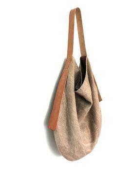 Bolsa flexible de lino belga hecha a mano el sol besó