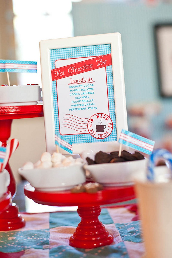North Pole Party - Hot Cocoa Bar Ingredients
