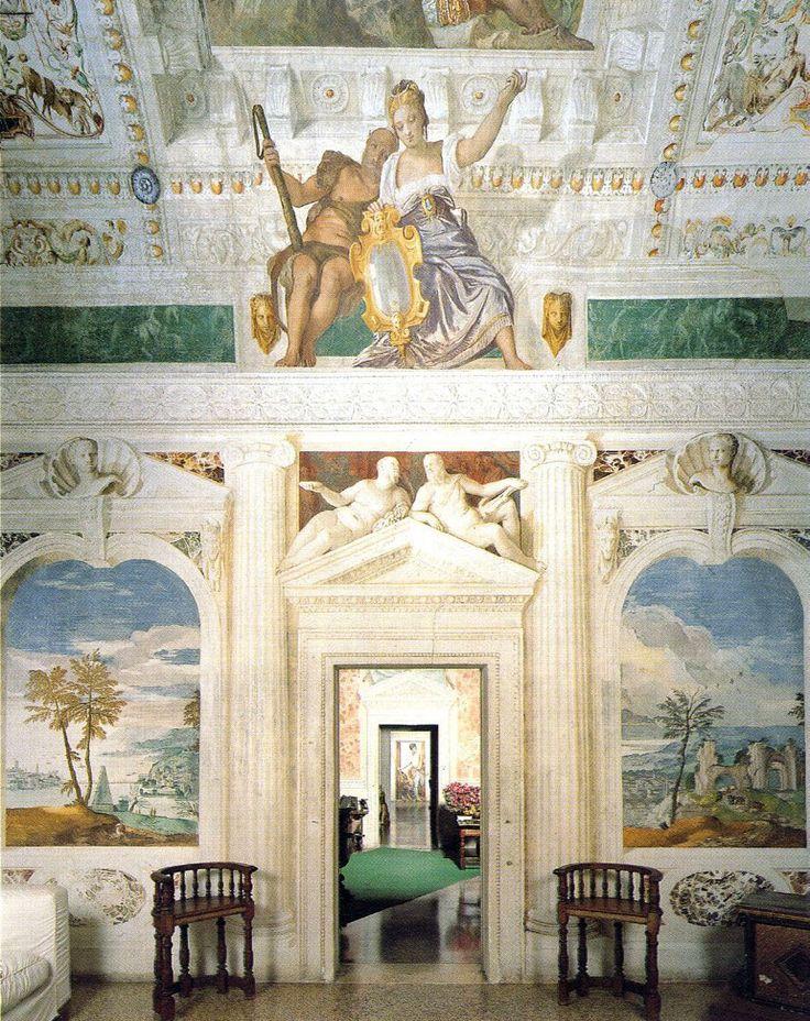 Paolo Veronese's interior frescoes, Villa Barbaro | Andrea Palladio. Maser, Italy 1560 Treviso Veneto