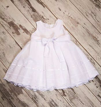 Girl 's Voile Lace White dress #girldress #childrenclothing #babygirl #christening