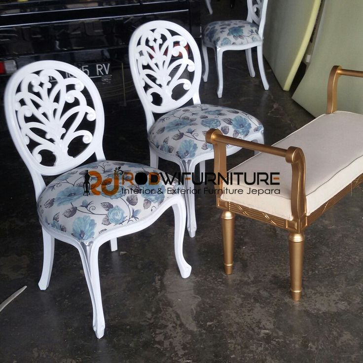 set kursi makan +stool gold