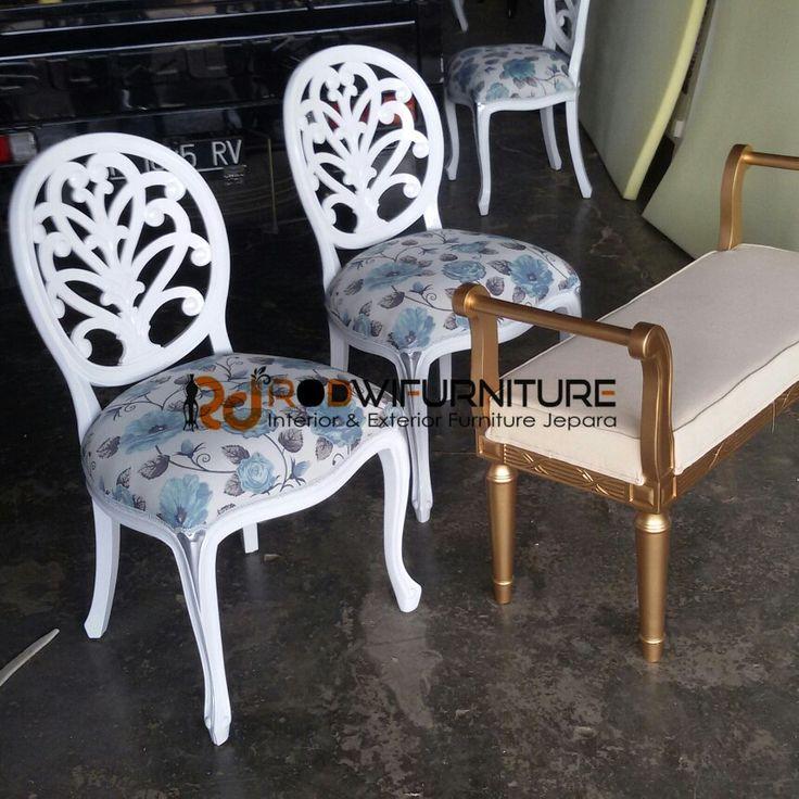set kursi makan +stool gold