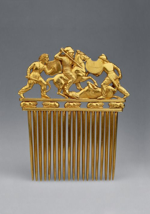 Scythian golden comb, 2500 years old
