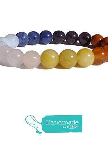 "ZENstore Chakra Healing Bracelet Natural Gemstones size 0.3"" 8mm Seven 7 Chakras Red Jasper Carnelian Yellow Jade Rose Quartz Chalcedony Lapis Lazuli Amethyst Balance from ZENstore https://www.amazon.com/dp/B072JMPG5L/ref=hnd_sw_r_pi_dp_-drozbXSP0Y12 #handmadeatamazon #handmadeatamazon"