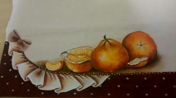 Pintura em tecido - face Maria das Graças Moraes
