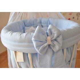Sepet Beşik İçin Mavi Puanlı Elysium Uyku Seti