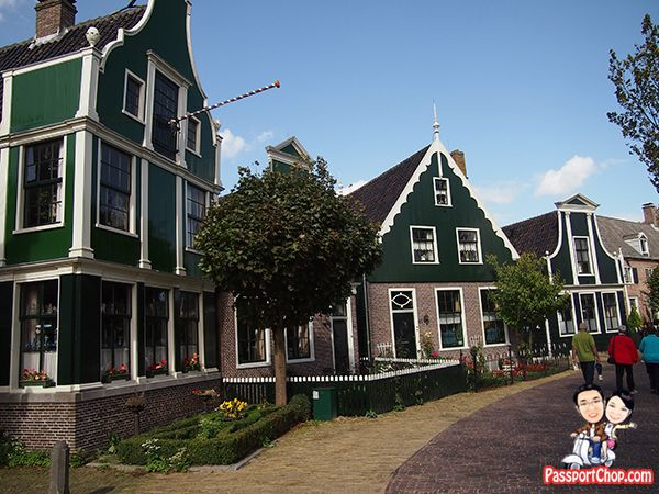 Zaanse Schans Open Air Museum Houses Holland The Netherlands Windmills