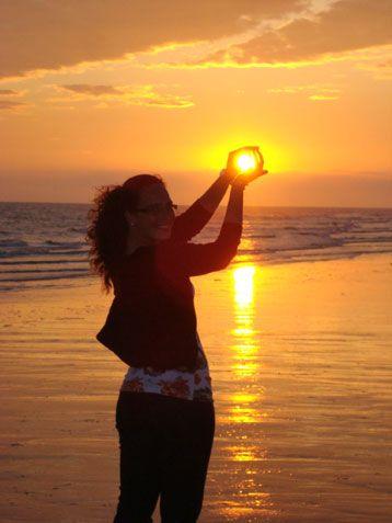Sunset here I come...got my camera ready!!! great photo idea!