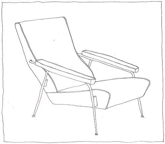 Gio Ponti, D.153.1, 1953 | drawn by Riccardo Salvi