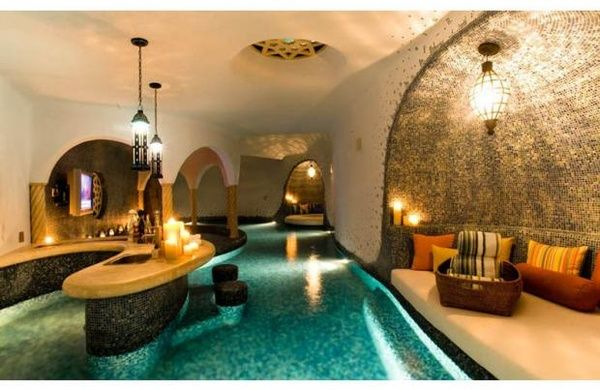 Indoor Lazy River - for the home http://pnnd.co/pin-1604: Indoor Pools, Dreams Home, Dreams Houses, Swim Pools, Pools Bar, Lazy Rivers, Swim Up Bar, Basements, Pool Bar