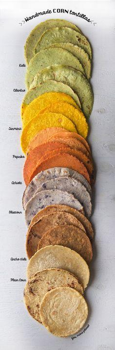 tortitas variadas caseras de maíz..escoge la que más te guste #foodtomeetyou
