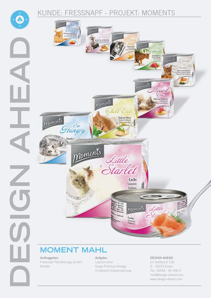 Packaging Design Moments Nassnahrung Katze