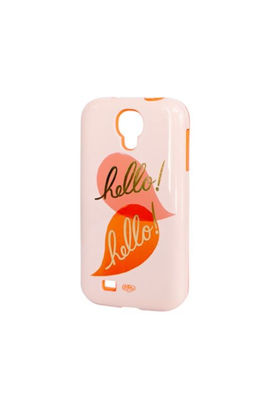 Dress your tech.... Rifle Paper Co Rifle Paper Co - Galaxy S4 Inlay Case - Hello Hello - NoteMaker.com.au