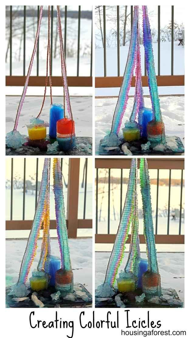 Create these crazy colorful icicles.
