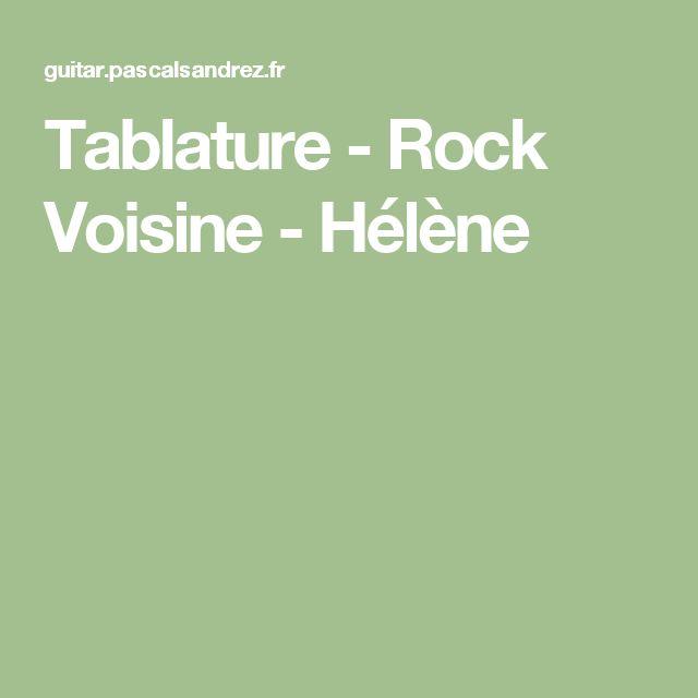 Tablature - Rock Voisine - Hélène