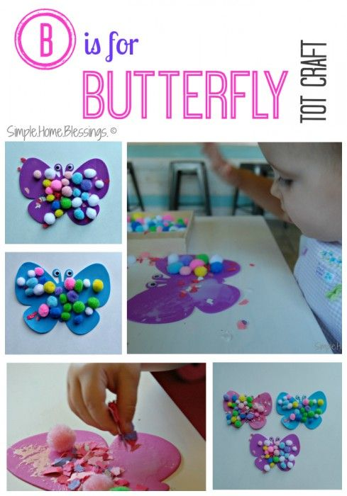 Is for butterfly tot craft good for a group of toddlers simple