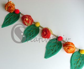 Diwali homemade bunting with tissue paper inspiration