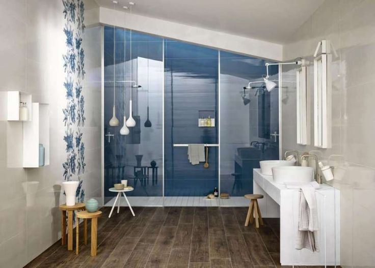 Piastrelle bagno moderno 2016 - Piastrelle blu Marazzi
