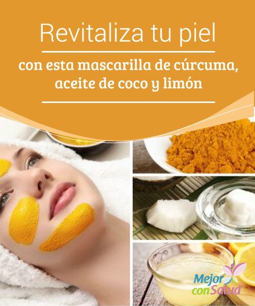 Revitaliza tu piel con esta mascarilla de cúrcuma, aceite de coco y limón  Por más que tratemos de evitarlo, nuestra piel está expuesta a una gran cantidad de factores que la deterioran poco a poco.